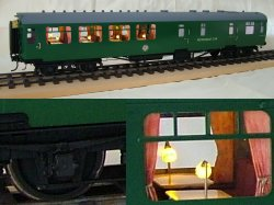 Southern bulleid Restaurant Car - in detail