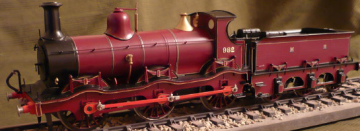 Kirtley 8L07 0-6-0 Midland locomotive